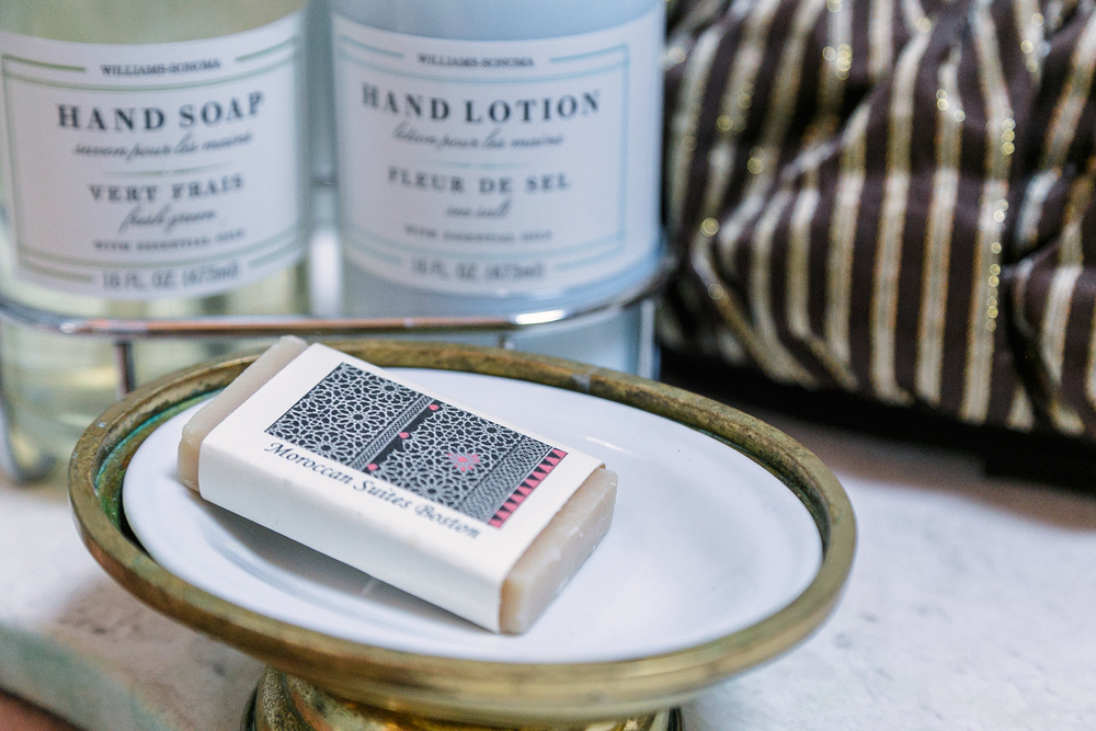 Handcrafted organic soaps and other fine amenities enhance the guest experience.