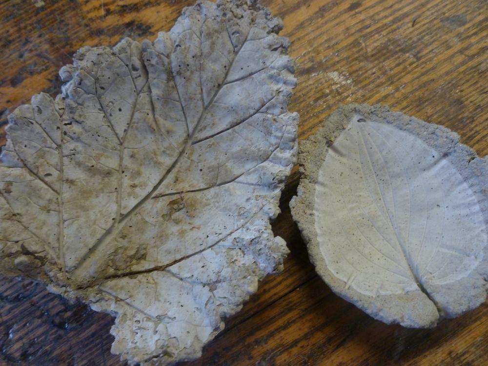 Concrete leaf casting