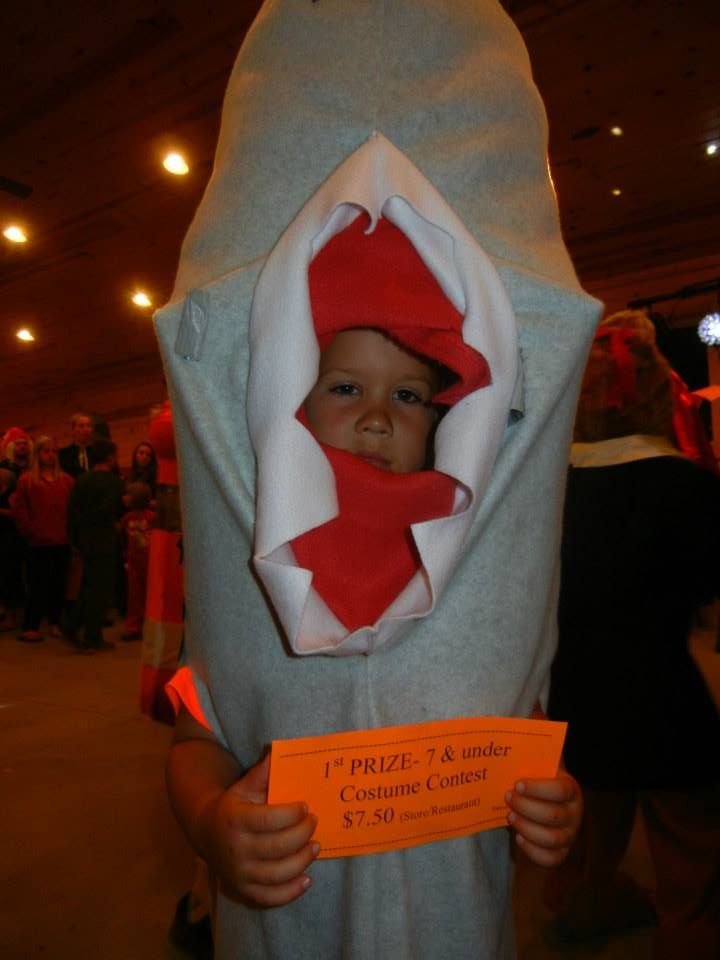 award winning shark costume