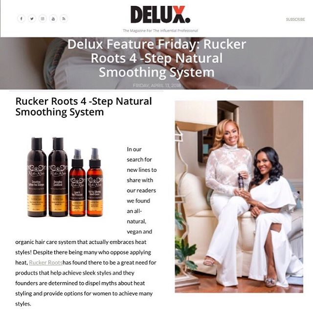 Thank you @deluxmagazine for the product feature!  Read full article  http://deluxmag.com/rucker-roots-4-step-natural-smoothing-system/#.WtEnamIpCEd ⠀⠀⠀⠀⠀⠀⠀⠀⠀ #NaturalHairStyles #RootOils #RuckYourRoots #premiumProducts #HealthyHairJourney #NaturalProducts #NaturalHairCare #100%Vegan