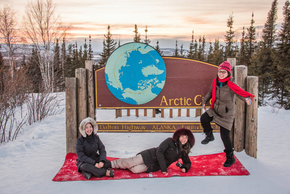"Guests enjoy their ""official"" Arctic Circle Crossing"