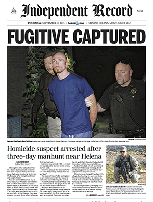 Fugitive Captured A suspected murderer who led authorities on a three-day manhunt was found hiding in an abandoned trailer, on the edge of suicide.