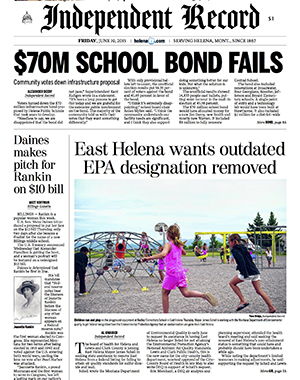 Voters turn down school bond Helena residents voted down a $70 million school bond that took nearly a decade for the school district to put together.