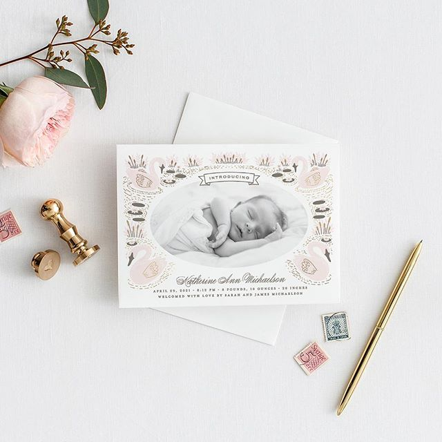 I love working on Baby and Kids categories SO MUCH. This birth announcement was designed for the current @minted competition. Still making tweaks but almost there. Swipe 👉🏻 for a video of the illustration process. #minted #mintedartist #stationery #risingtidesociety #graphicdesign #pursuepretty #baby