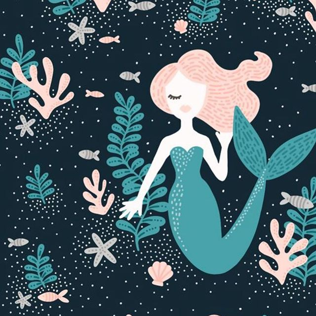 Weekend pattern making vibes.  #mermaid #surfacedesign #risingtidesociety #graphicdesign #surfacedesigner #patterns #pattern #illustrator #illustration