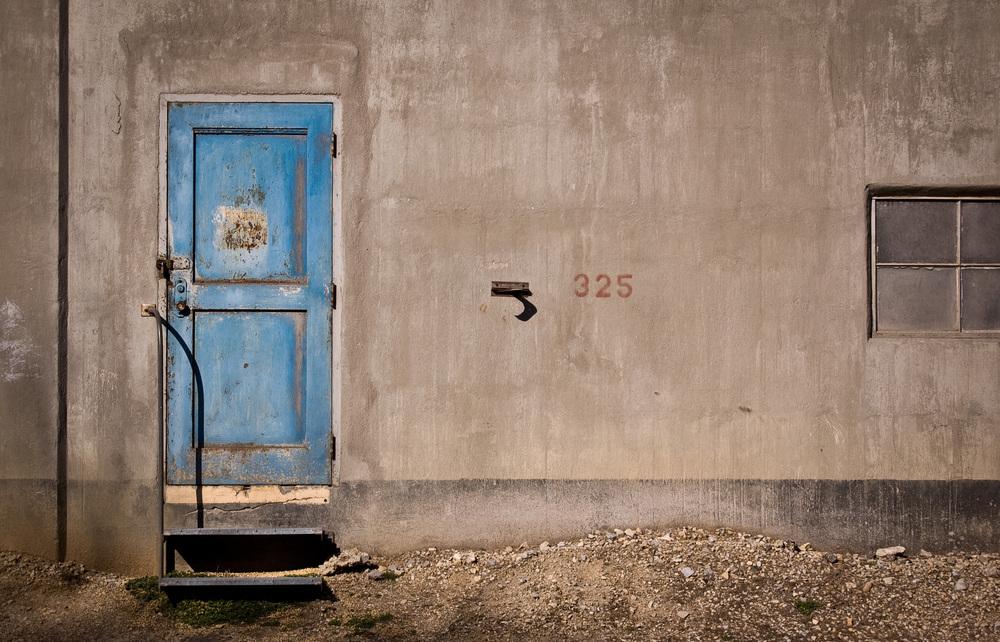 Blue Door on Grain Elevator