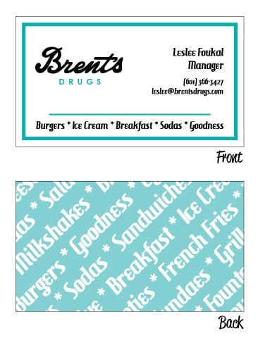 Brents drugs blake reeves business cards colourmoves