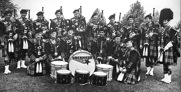 Photo by Rags Petersen Lockheed LERA Pipe Band (1968)