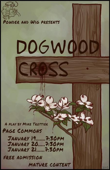 Dogwood Cross Poster