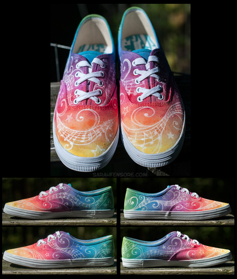 Rainbow Music Shoes