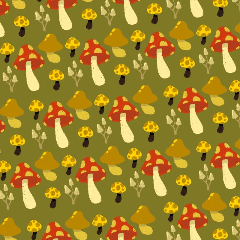 Amanita Muscaria Pattern - 2014