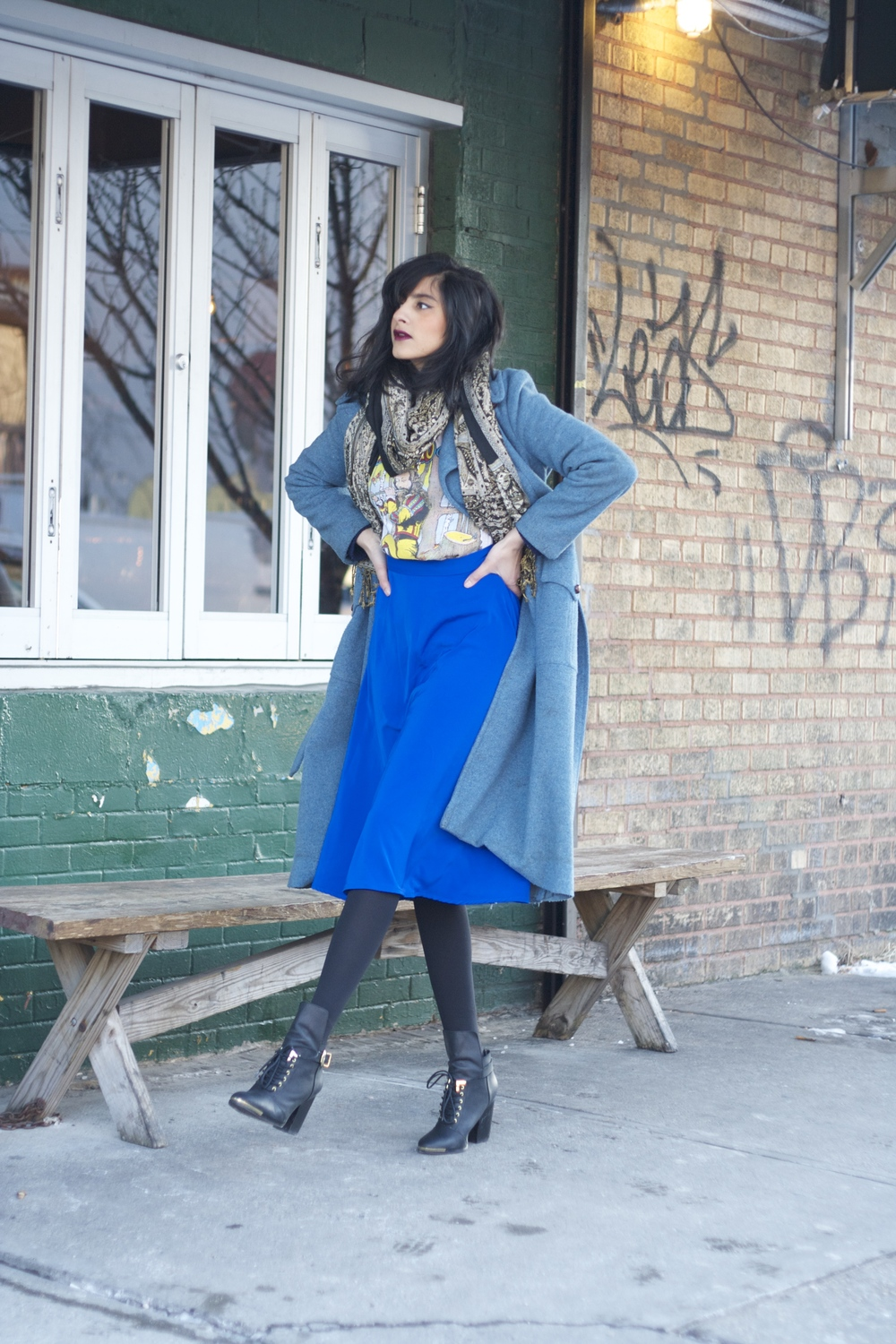 Vintage + Grey City outfit