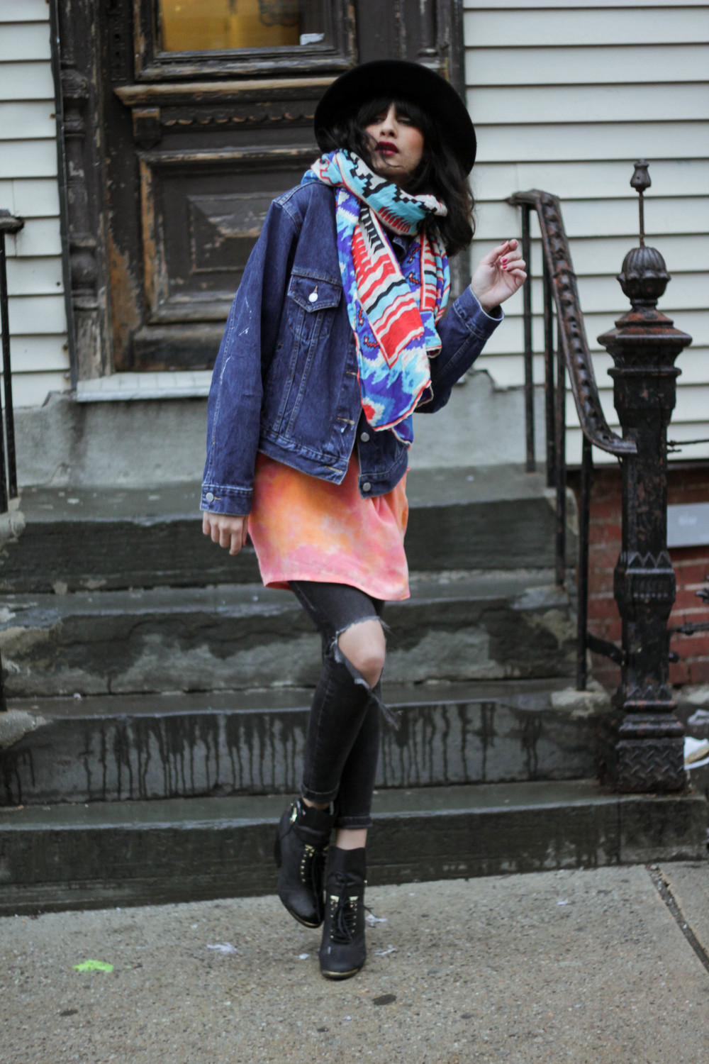 Gypsy 05 dress Theordora & Callum scarf