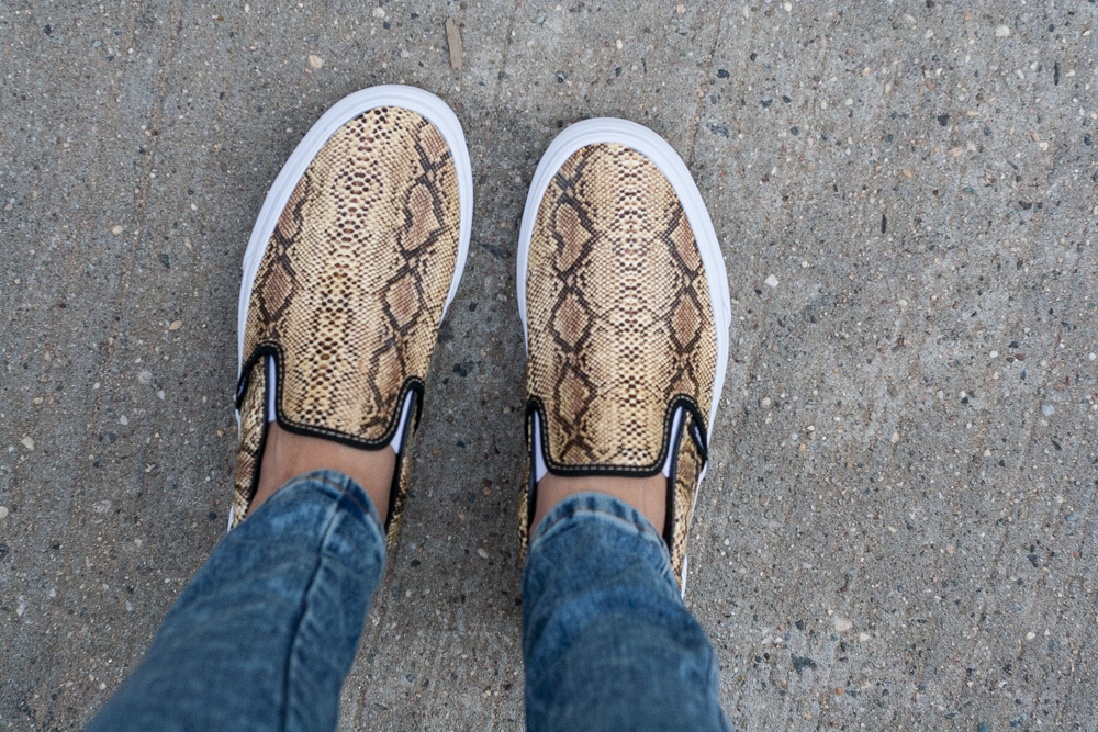 Vans Leather Snake Slip On