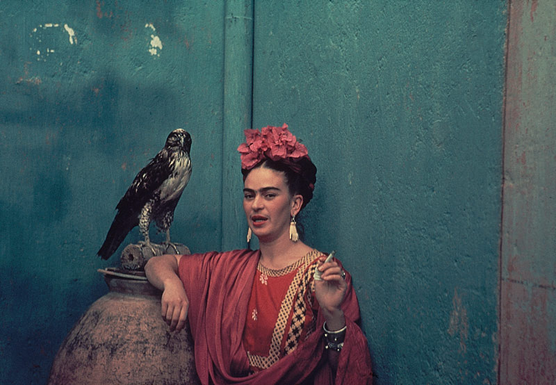 frida with an owl