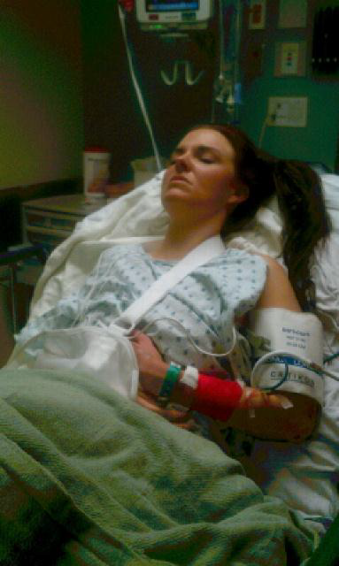 sunnie lynne in the emergency room