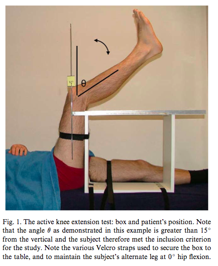 Active knee extension test (Kuilart, et al., 2005, p. 92).