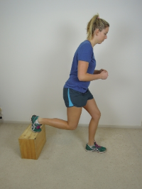 Bulgarian Lunge...late stage single leg progression in meniscus rehabilitation.