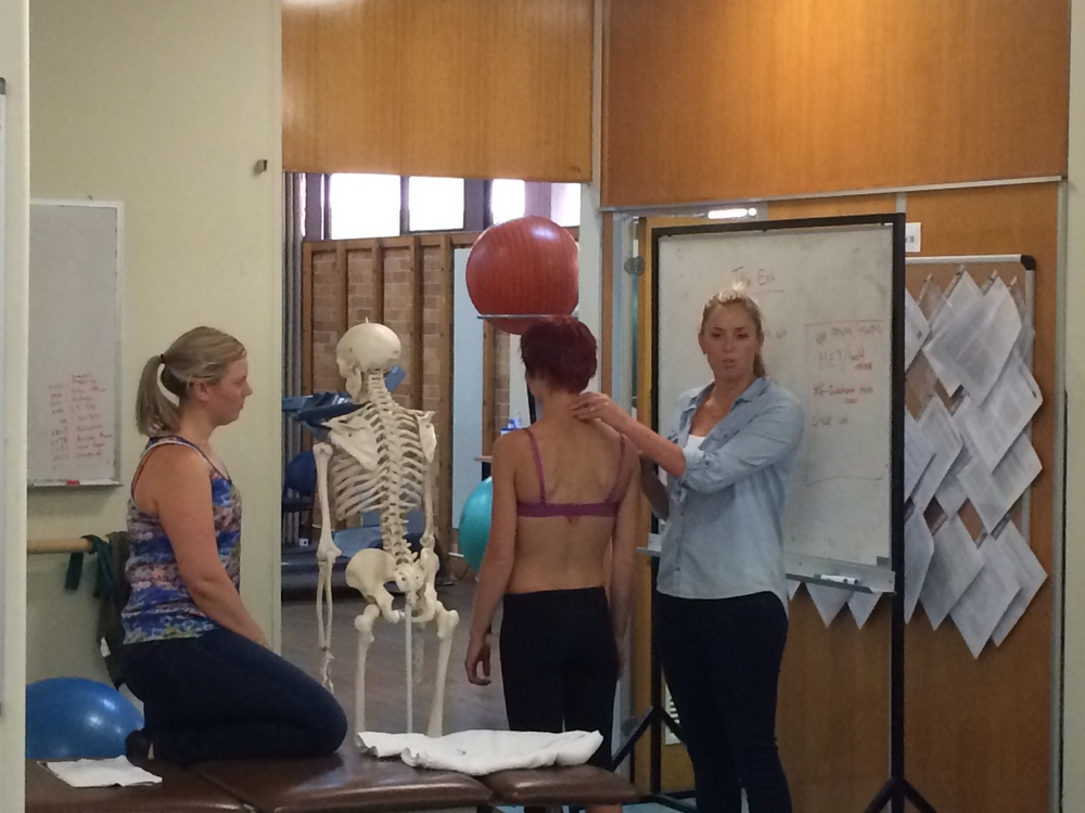 Teaching on Spinal level 2 with Alicia in Melbourne 2014