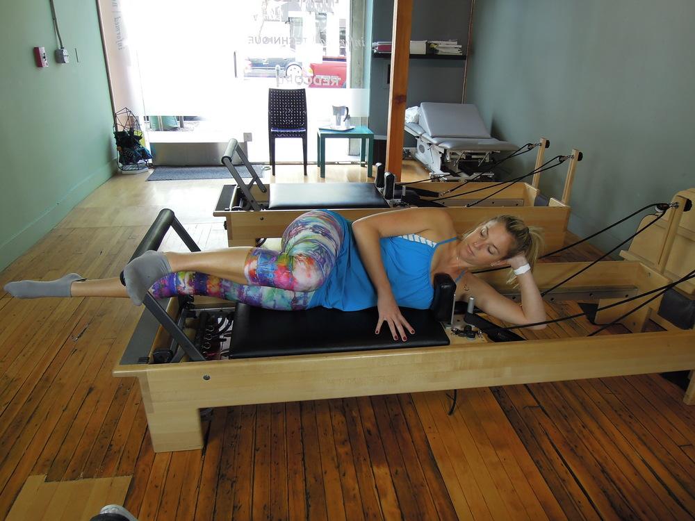 Side lying leg press