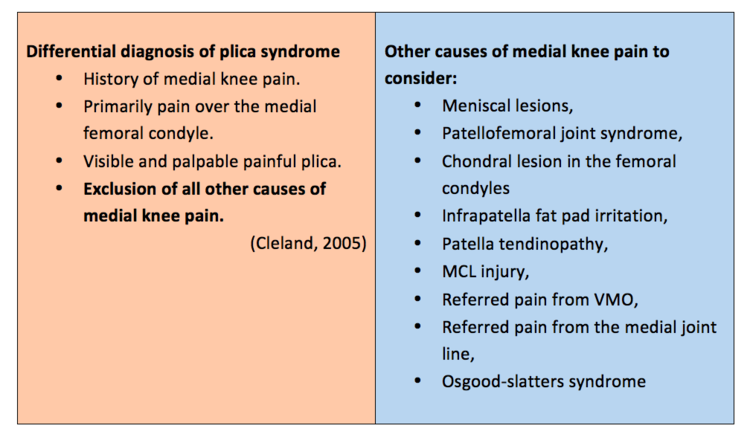 Painful Plica - do they exist? — Rayner & Smale
