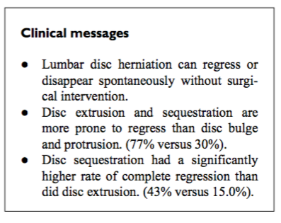 Modern manual therapy blog correlation between disc herniation regression clinical improvement fandeluxe Choice Image