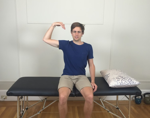 Median nerve slider start position