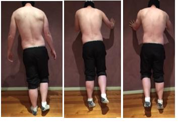 Pic 1&2: Left leg single leg calf raise Picture 3: R SLCR