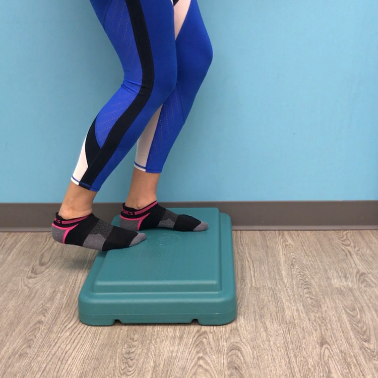 Bent knee calf stretch