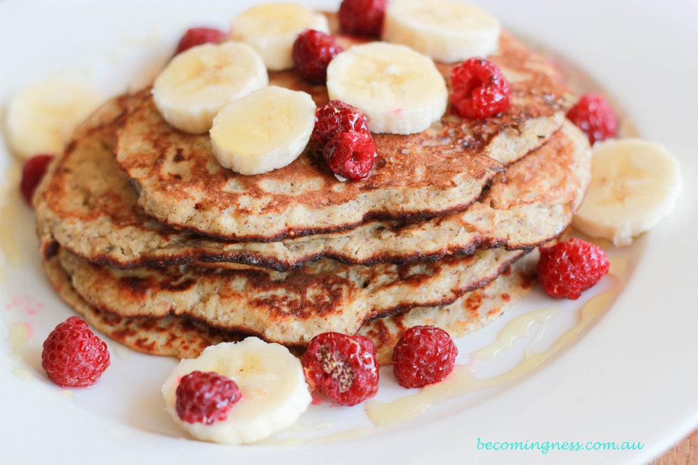 Banana-Coconut-Pancakes