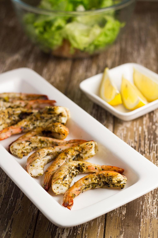 Grilled-prawns-lemon-chili-oregano