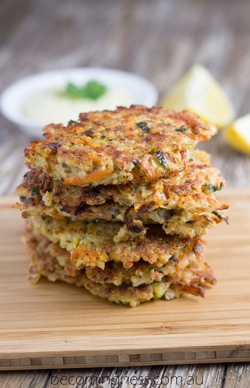 Quinoa-Fritters-Healthy-Garlic-aioli