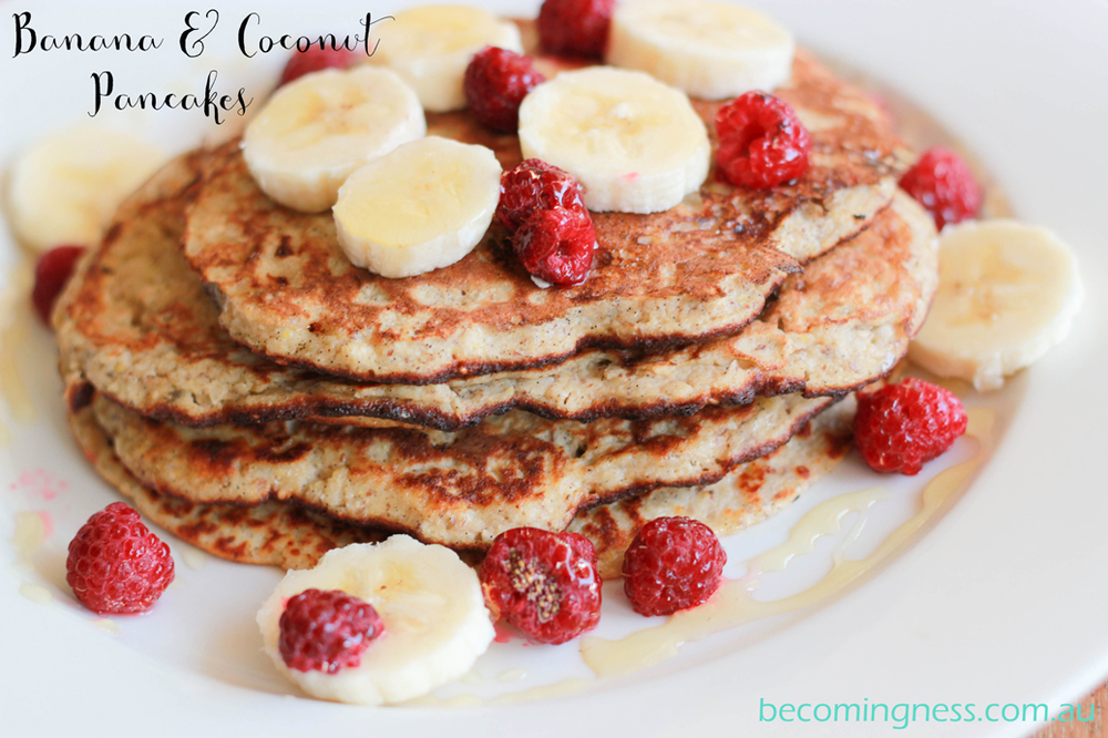 thermomix-banana-coconut-pancakes