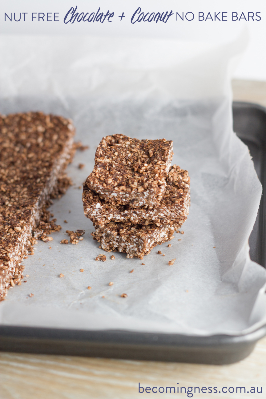 NUT-FREE-CHOCOLATE-and-COCONUT- NO-BAKE-BARS
