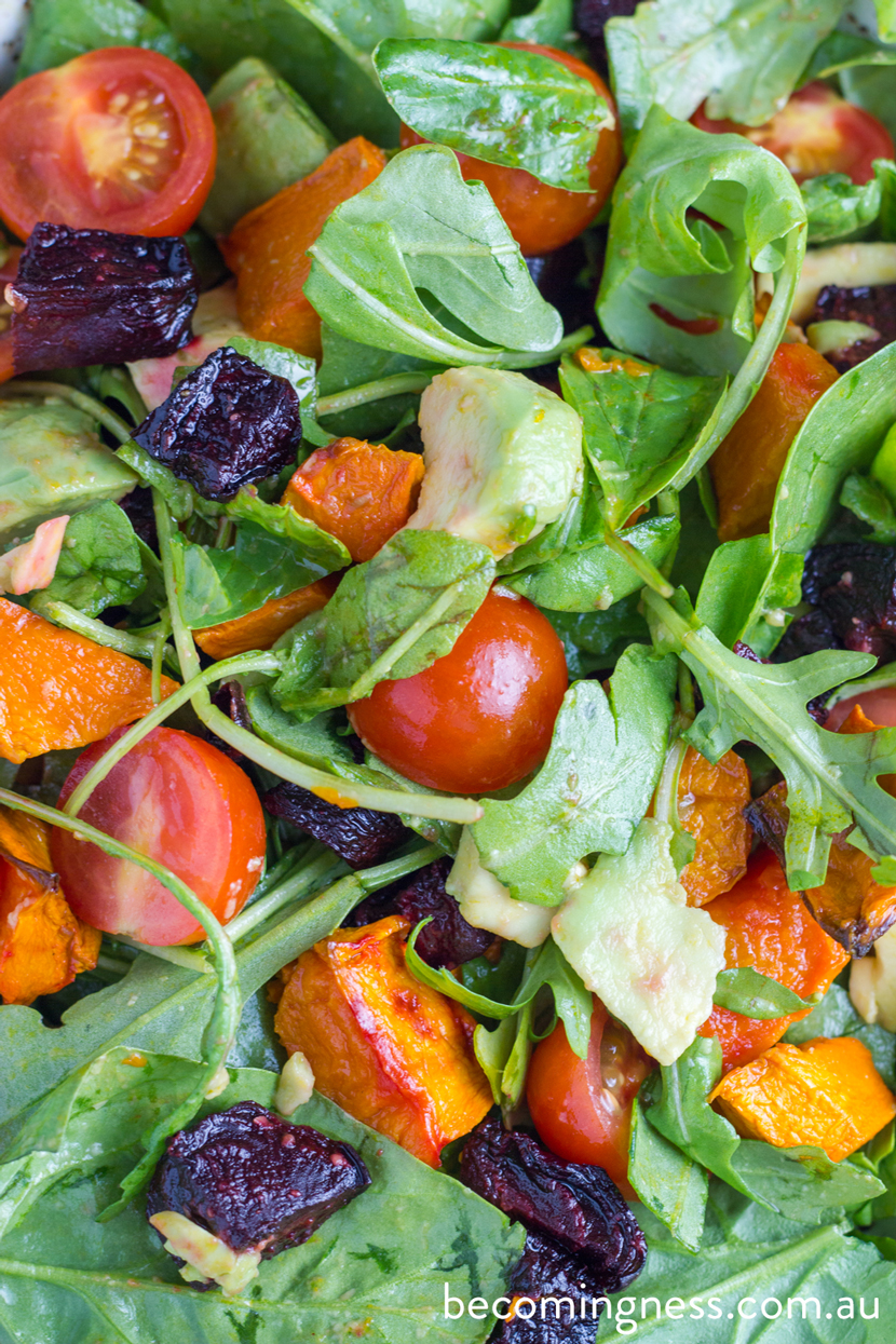 pumpkin-beetroot-avocado-salad
