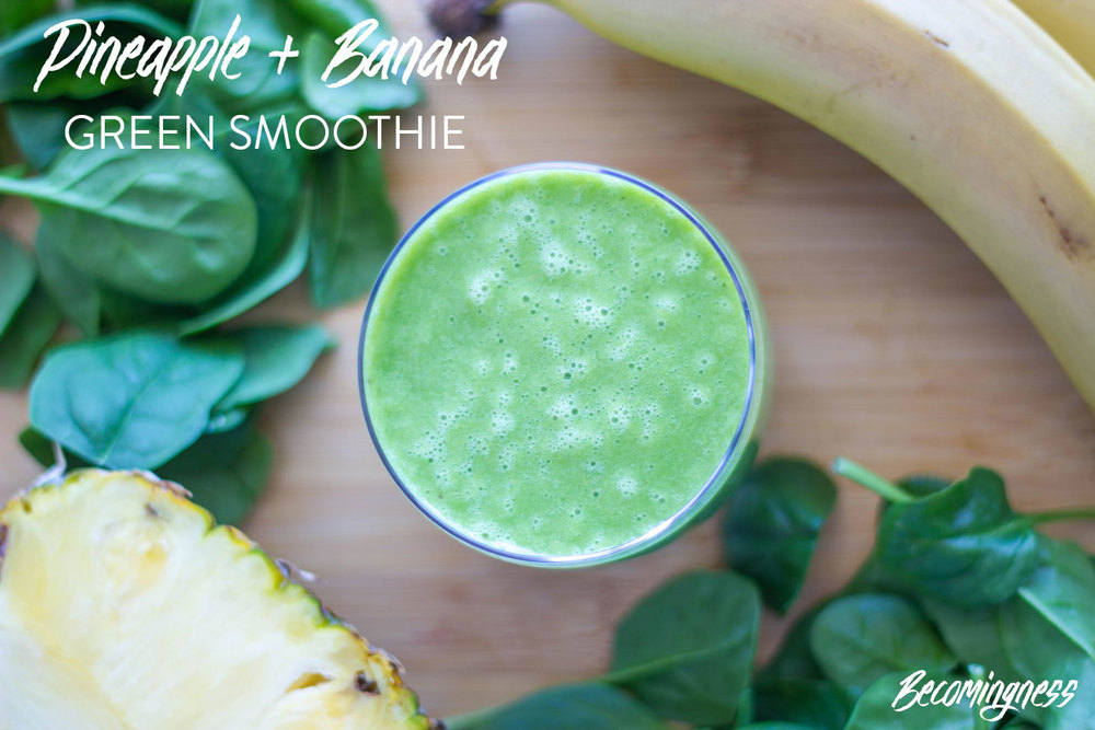 Pineapple-and-Banana-Green-Smoothie