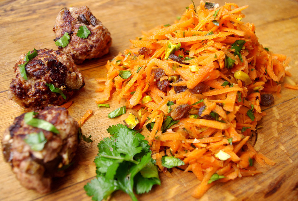 Friday-Foodie-Jessica-Donovan-lamb-patties-carrot-pistachio-salad