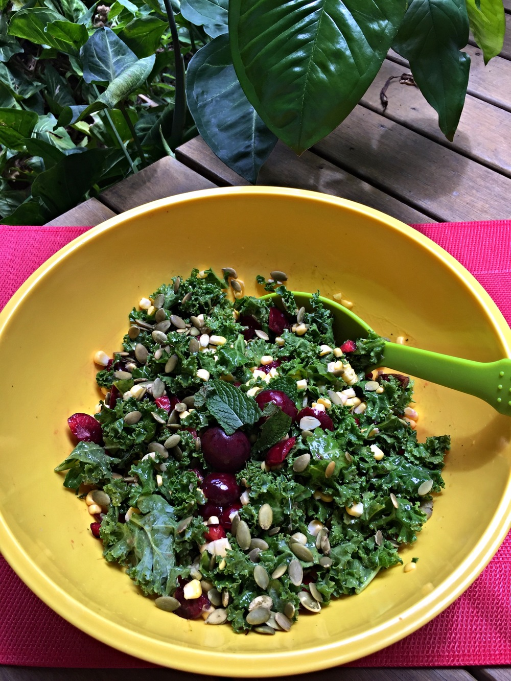christmas-recipe-countdown-kale-and-cherry-salad-with-a-mango-mint-dressing