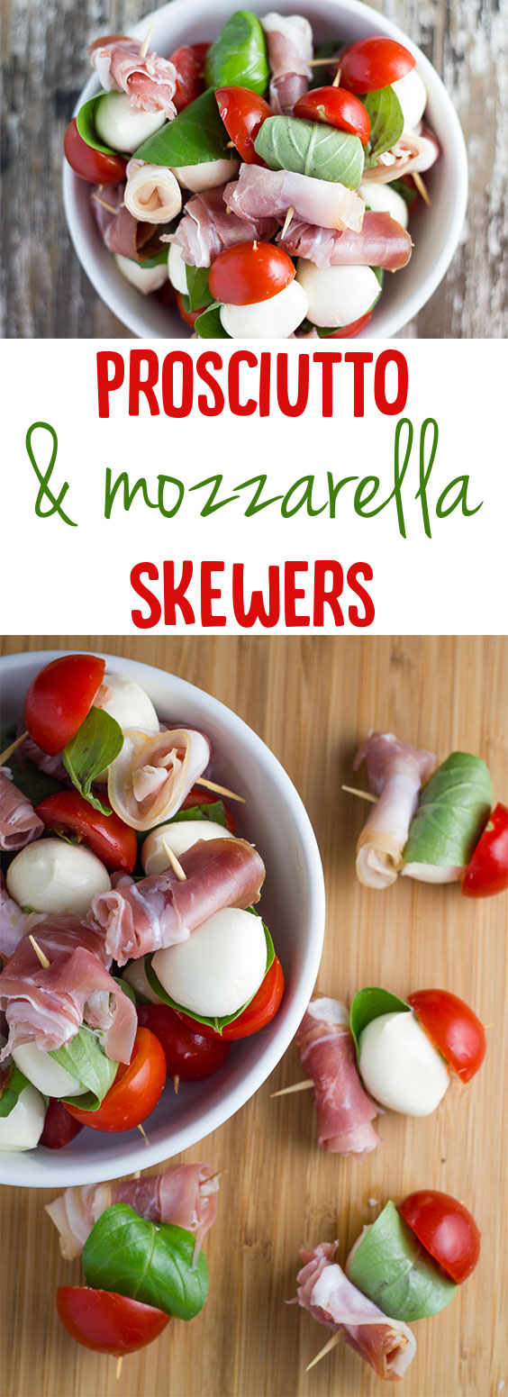 Prosciutto and Mozzarella Skewers