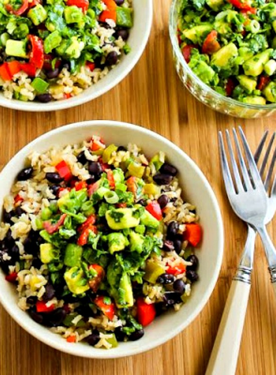 SLOW COOKER VEGAN BROWN RICE MEXICAN BOWL - by Kalyn's Kitchen
