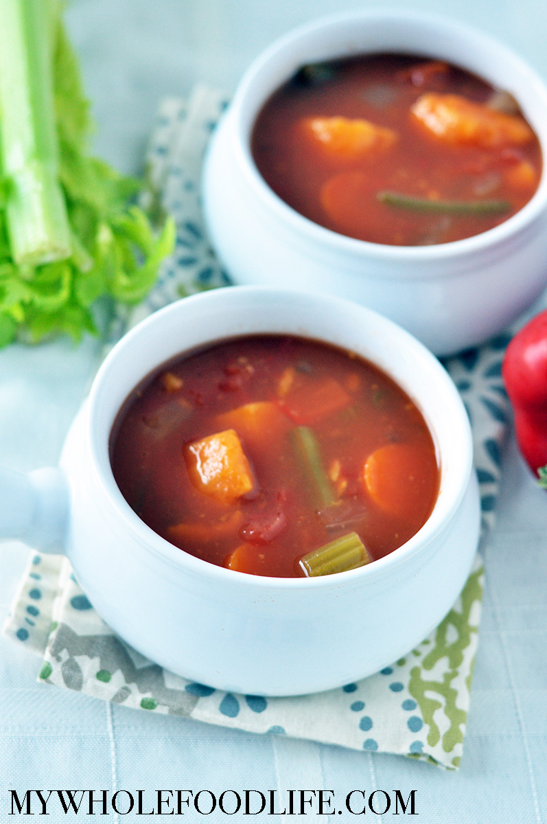 CHUNKY VEGETABLE SOUP - by My Whole Food Life