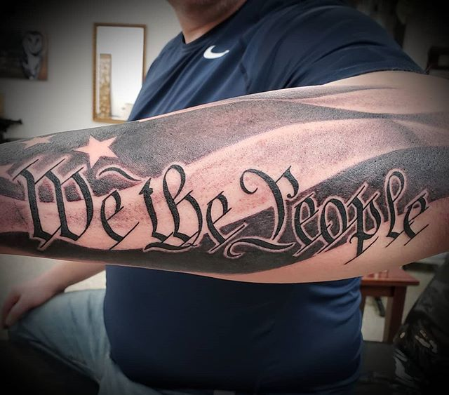 #USA #merica #flag #wethepeople #tattoo #tats #tattoosofinstagram #tattooartist #ink #inked #inklife #blackandwhite #blackandgreytattoo #shading #instaart #art #milwaukee #pewaukee #wisconsin #pewaukeetattooparlour #ciarankorb
