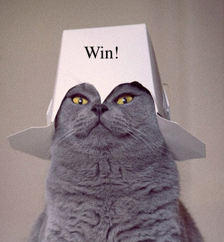 This is how pleased you'll look when you win these books. Promise.