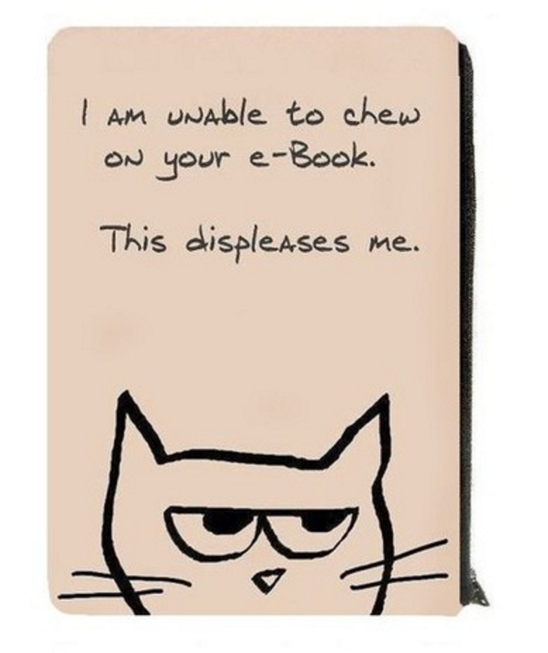 Why cats hate ebooks.