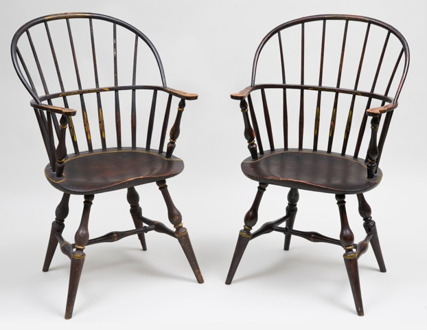 Exceptional Pair of Windsor Armchairs