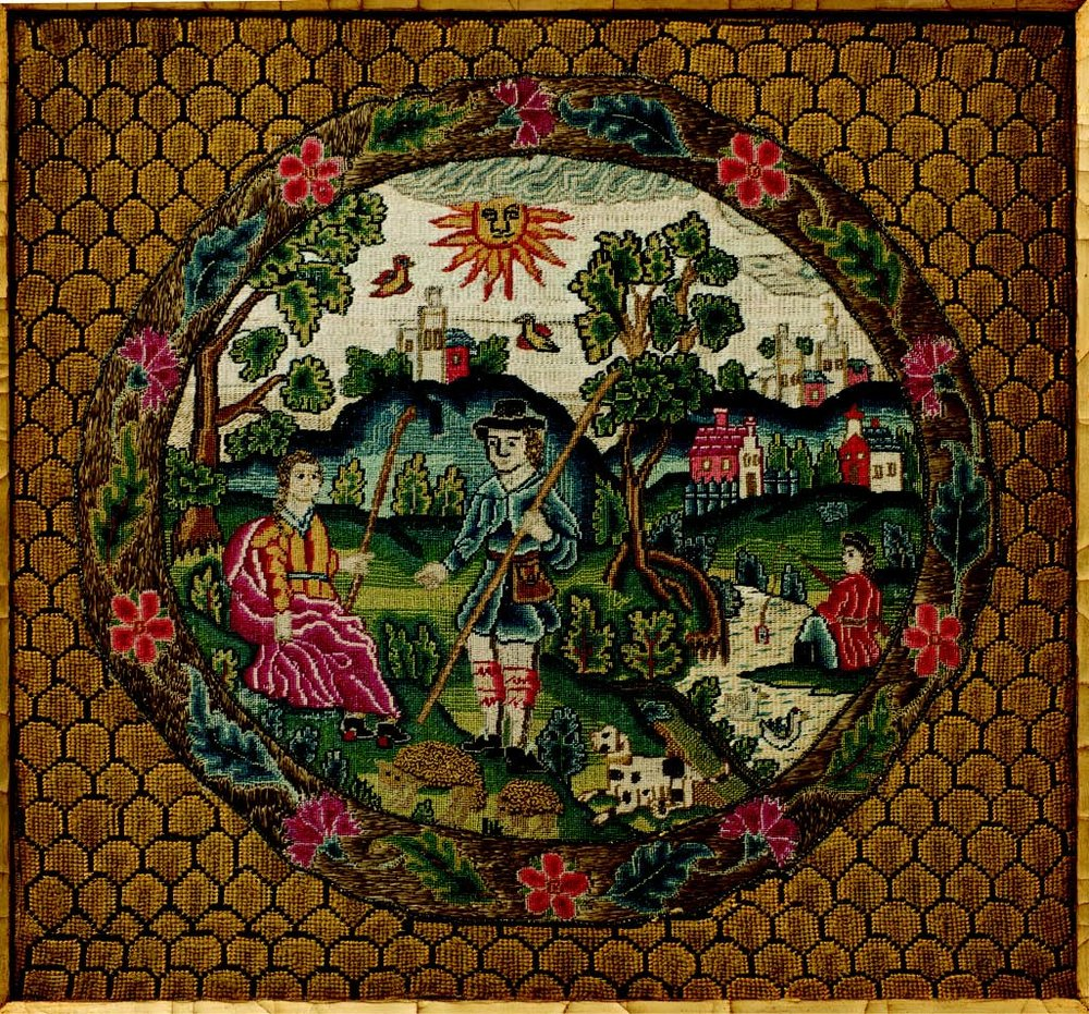 An example of early eighteenth-century English needlework at its best..