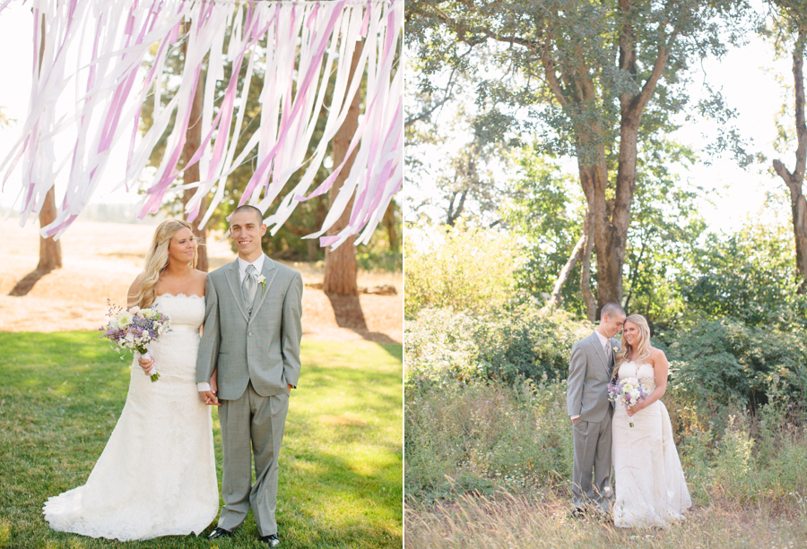 Colorful Outdoor Oregon Wedding in the Woods