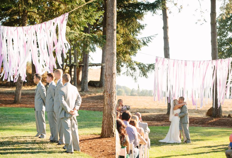 Grey Suits at Oregon Wedding