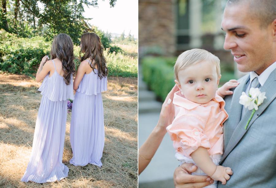 Long Bridesmaid Dresses at Oregon Outdoor Wedding