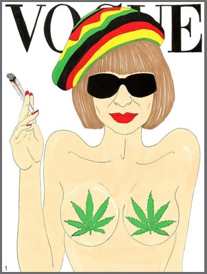 Anna Wintour, caricatured by  Alexsandro Palombo